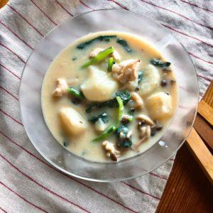 山芋(長芋)のほっこり豆乳シチュー