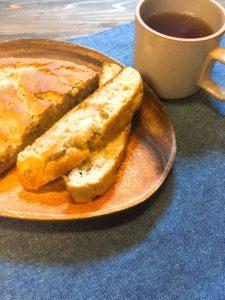 グルテンフリー米粉のバナナケーキ