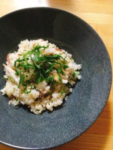 『あじとクレソンの混ぜ寿司』のレシピ