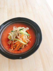 『食物繊維たっぷり 切干大根と糸寒天の甘酢和え』のレシピ